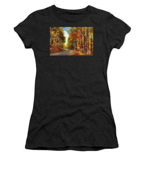 Vivid Autumn In The Blue Ridge Mountains Ap Women's T-Shirt (Athletic Fit)
