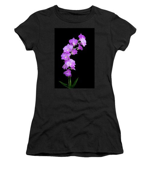 Women's T-Shirt (Athletic Fit) featuring the photograph Vivid Purple Orchids by Denise Bird