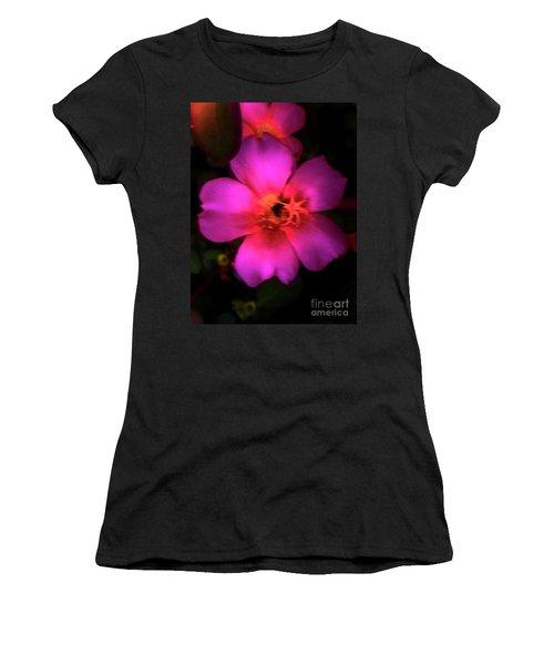 Vivid Rich Pink Flower Women's T-Shirt