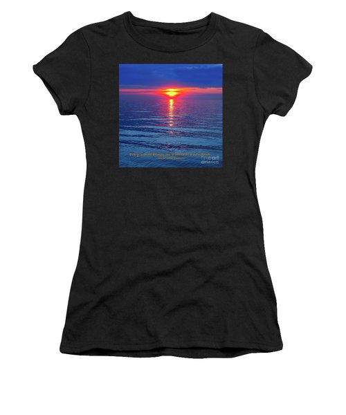 Vivid Sunset - Emerson Quote - Square Format Women's T-Shirt (Athletic Fit)