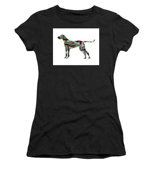 Vizsla Spirit Glass Women's T-Shirt (Athletic Fit)