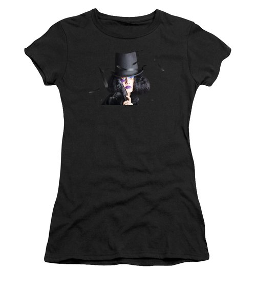 Vogue Woman In Black Costume Women's T-Shirt