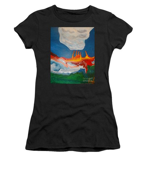 Volcanic Action Women's T-Shirt (Athletic Fit)