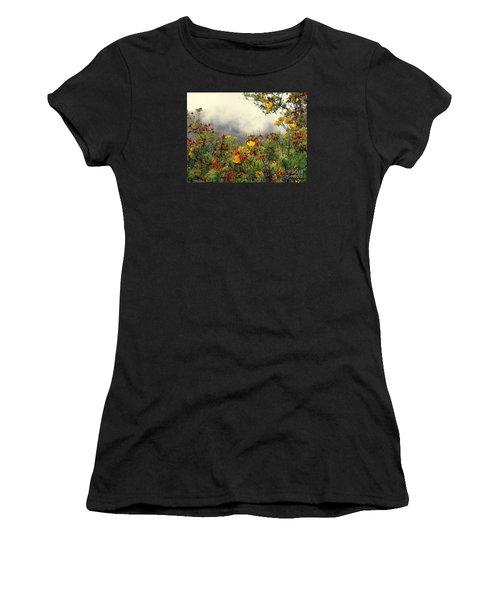 Volcano Scene Reunion Island Women's T-Shirt (Athletic Fit)