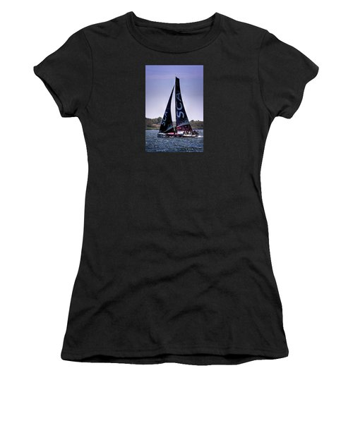 Women's T-Shirt (Junior Cut) featuring the photograph Volvo Ocean Race Team Sca by Tom Prendergast