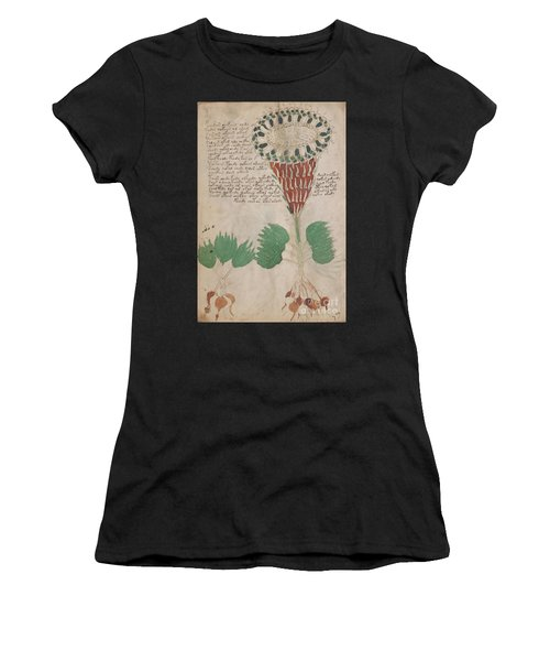 Voynich Flora 15 Women's T-Shirt (Athletic Fit)