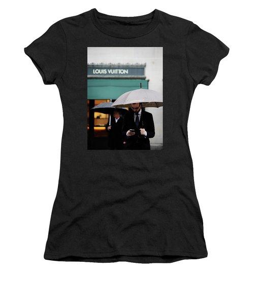 Women's T-Shirt (Junior Cut) featuring the photograph Vuitton by Empty Wall