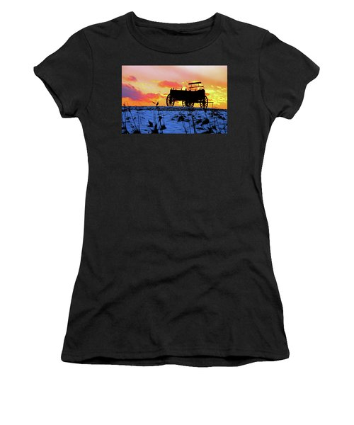 Wagon Hill At Sunset Women's T-Shirt (Athletic Fit)