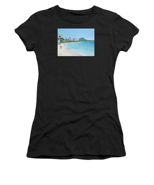 Waikiki Beach Honolulu Hawaii Women's T-Shirt