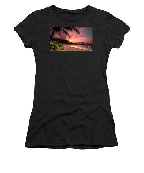 Wainiha Kauai Hawaii Bali Hai Sunset Women's T-Shirt