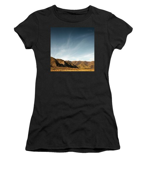 Women's T-Shirt (Athletic Fit) featuring the photograph Wainui Hills Squared by Joseph Westrupp