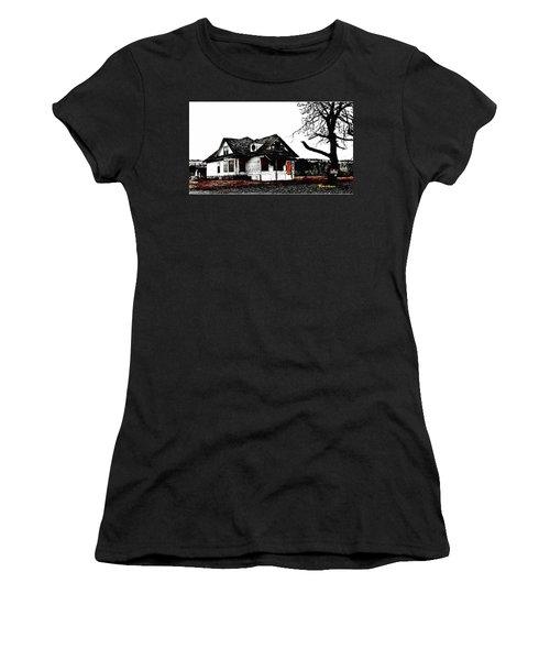 Waiting For The Light Women's T-Shirt (Junior Cut) by Sadie Reneau