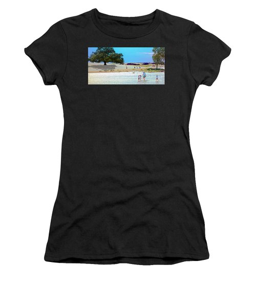 Waiting In The Water Women's T-Shirt (Athletic Fit)