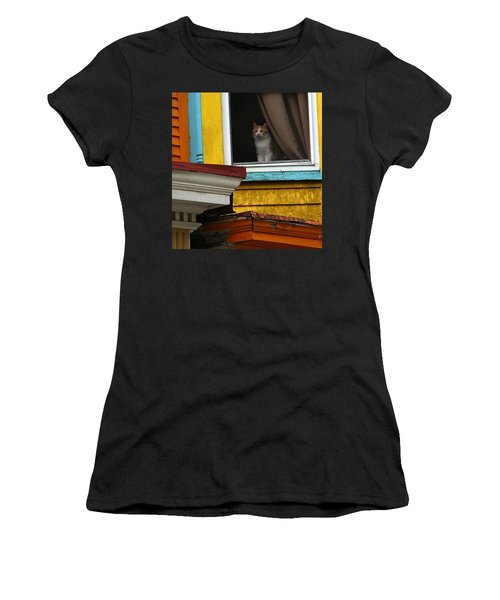 Waiting... Women's T-Shirt (Junior Cut) by Yvonne Wright