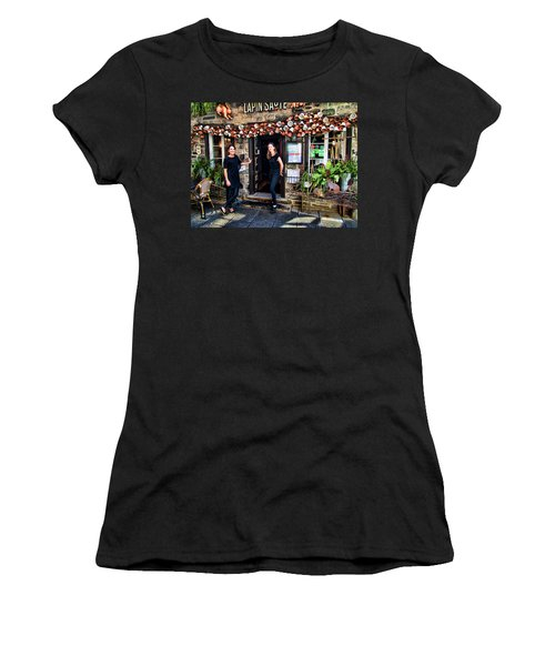 Waitresses At Outdoor French Terroir In Old Quebec City Women's T-Shirt