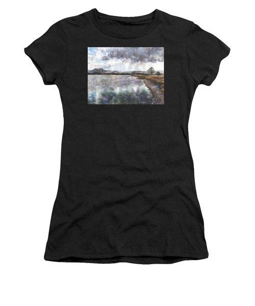 Walden Ponds On An April Evening Women's T-Shirt (Athletic Fit)