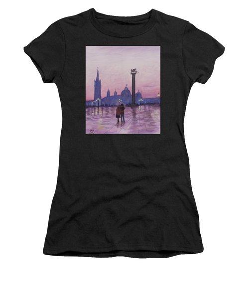 Walk In Italy In The Rain Women's T-Shirt