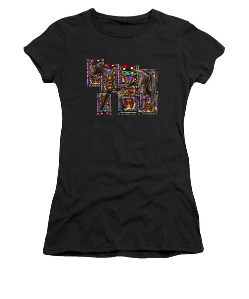 Walking Horse Women's T-Shirt (Athletic Fit)