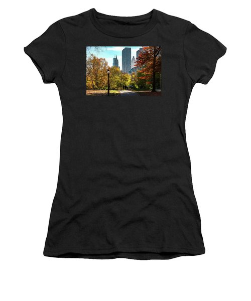 Walking In Central Park Women's T-Shirt (Athletic Fit)