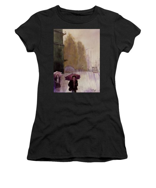 Walking In The Rain Women's T-Shirt