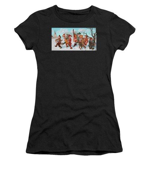 Walking Musicians Women's T-Shirt (Athletic Fit)