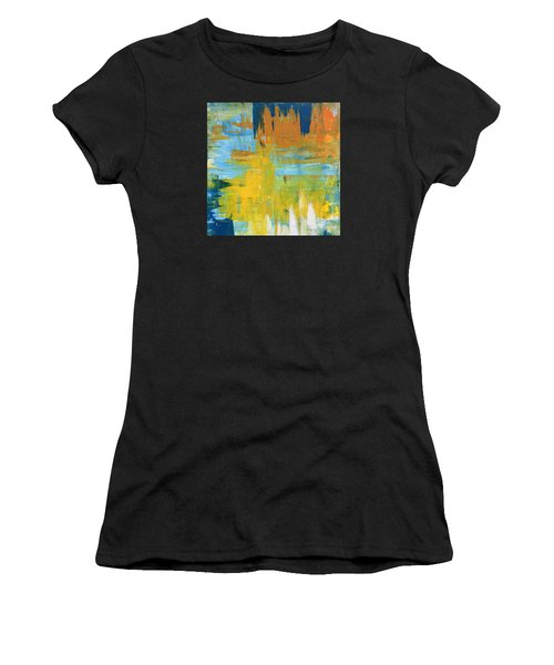 Walking On Sunshine - 48x48 Huge Original Painting Art Abstract Artist Women's T-Shirt (Athletic Fit)
