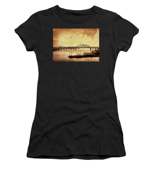Walkway Over The Sound, Topsail Beach, North Carolina Women's T-Shirt (Athletic Fit)