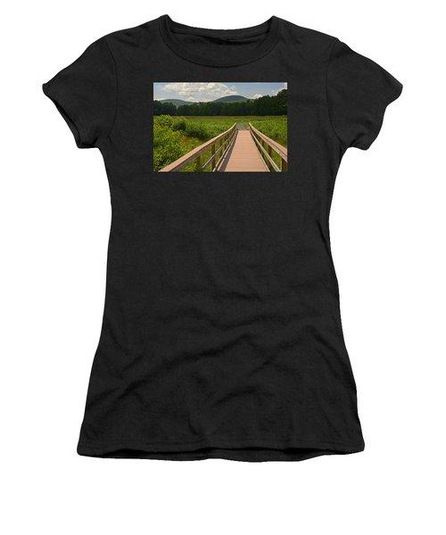 Walkway To A Mountain Color Women's T-Shirt