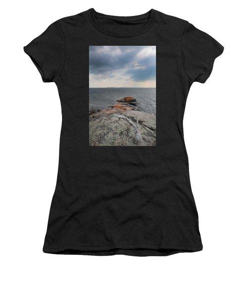 Wall Island Lichen Driftwood 3640 Women's T-Shirt