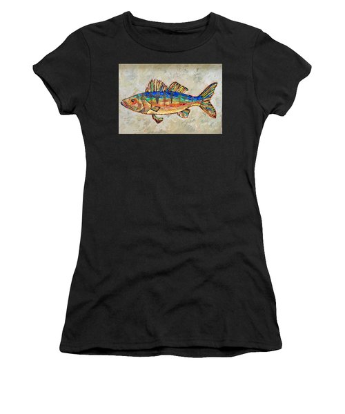 Walter The Walleye Women's T-Shirt (Athletic Fit)