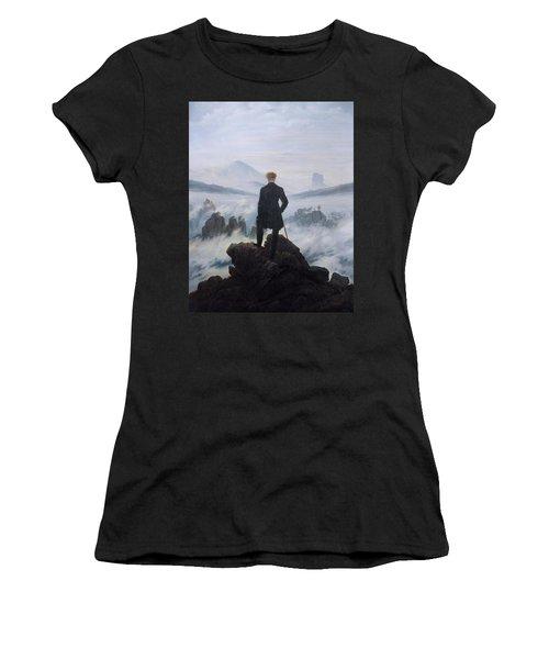 Wanderer Above The Sea Of Fog Women's T-Shirt