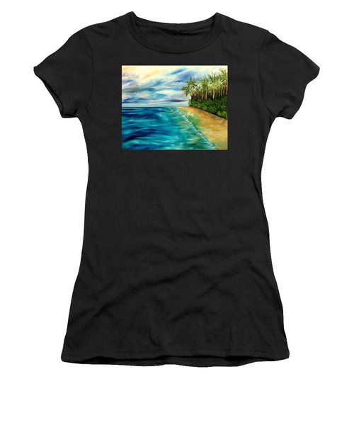 Wandering Through Turquoise Days Women's T-Shirt (Athletic Fit)
