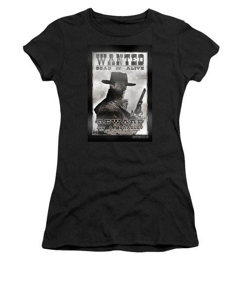 Wanted Poster Notorious Outlaw Women's T-Shirt (Athletic Fit)