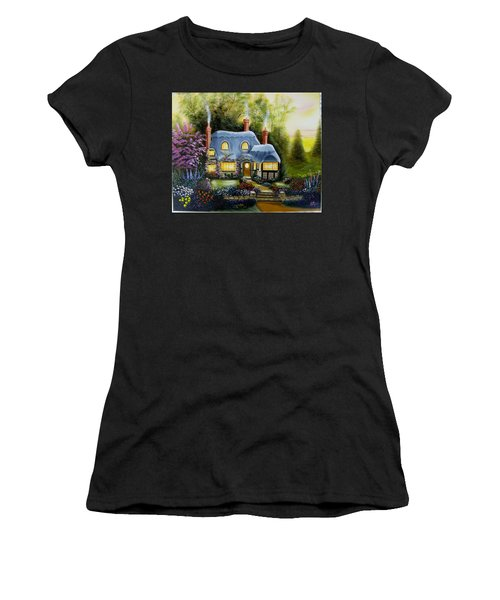 Warm And Cozy Cottage Women's T-Shirt (Athletic Fit)