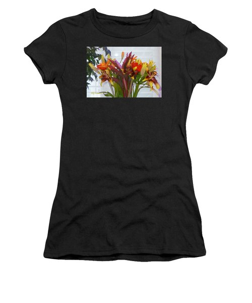 Warm Colored Flowers Women's T-Shirt