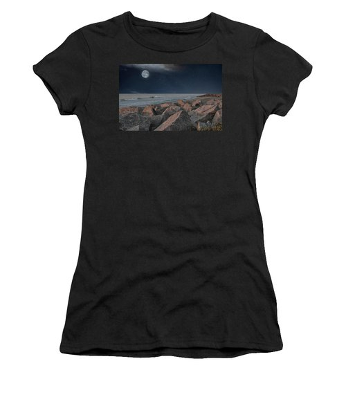Warm Moonrise At For Fisher Women's T-Shirt
