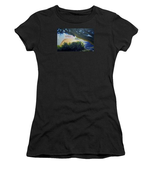 Warm Shadows On The Plaza Women's T-Shirt (Athletic Fit)