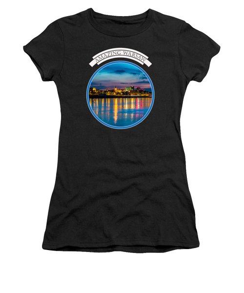 Warsaw Souvenir T-shirt Design 1 Blue Women's T-Shirt
