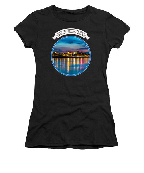 Warsaw Souvenir T-shirt Design 1 Blue Women's T-Shirt