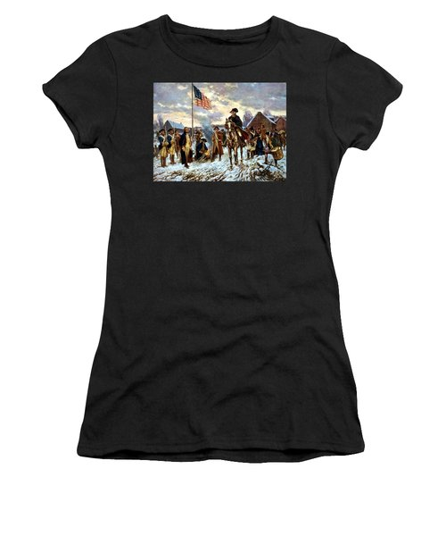 Washington At Valley Forge Women's T-Shirt (Athletic Fit)