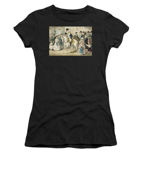 Washington Entering New York On The Evacuation Of The City By The British On Nov 25th 1783 Women's T-Shirt