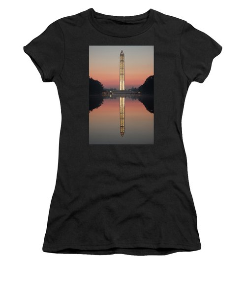 Washington Monument At Dawn Women's T-Shirt (Athletic Fit)