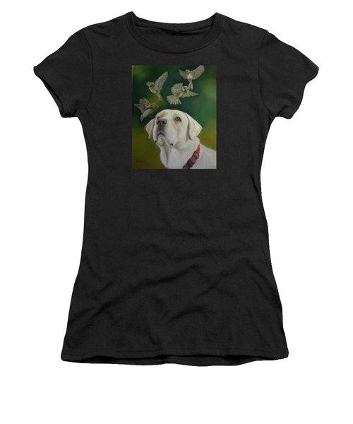 Watching Birds Women's T-Shirt (Junior Cut) by Ceci Watson