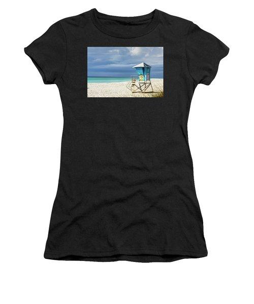 Women's T-Shirt featuring the photograph Lifeguard Tower Florida Gulf Coast by Randy Bayne