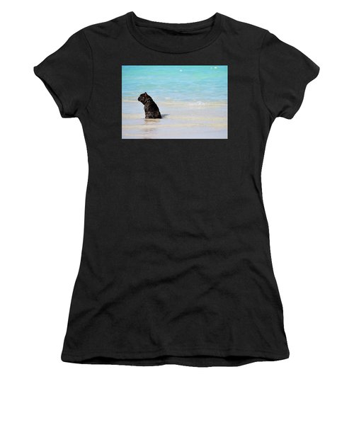 Watching The Waves Women's T-Shirt (Athletic Fit)