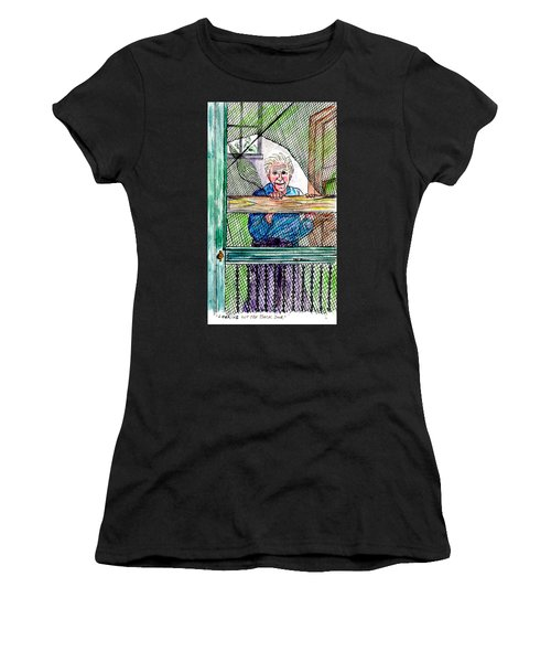 Watching To See If The Kids Are Coming Women's T-Shirt