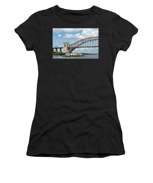 Hell Gate Bridge And Barge Women's T-Shirt