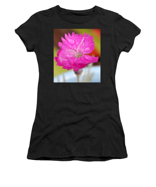 Water Bug Flower Women's T-Shirt (Junior Cut) by Samantha Thome