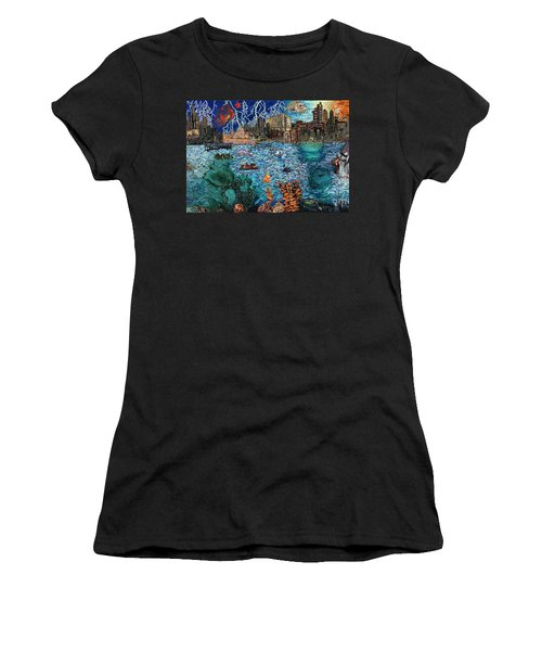 Water City Women's T-Shirt (Athletic Fit)