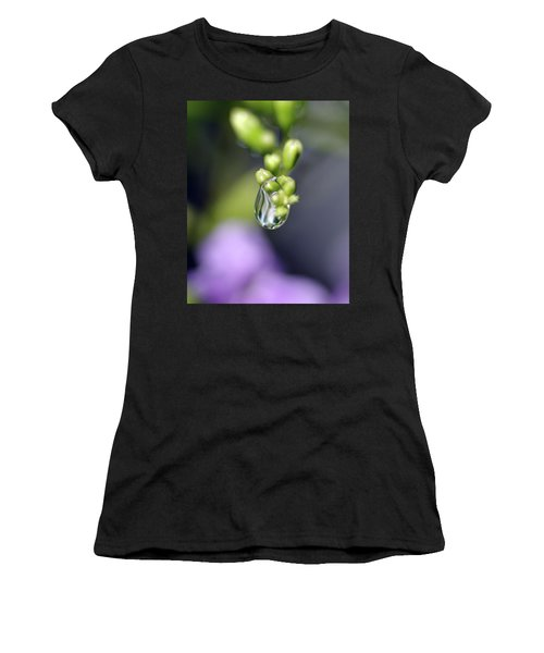 Women's T-Shirt (Junior Cut) featuring the photograph Water Droplet Iv by Richard Rizzo